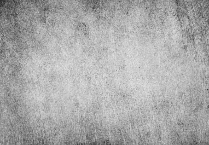 Aged grunge, scratched gray metal texture. Old iron background.  stock photo