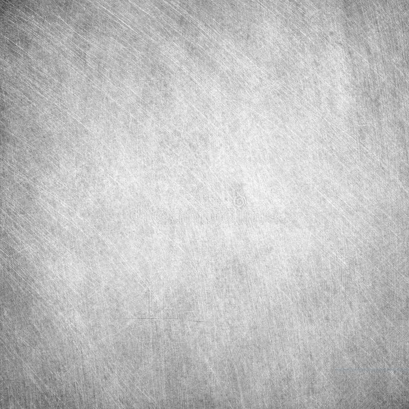 Aged grunge, scratched gray square metal texture. Old iron background.  royalty free stock images