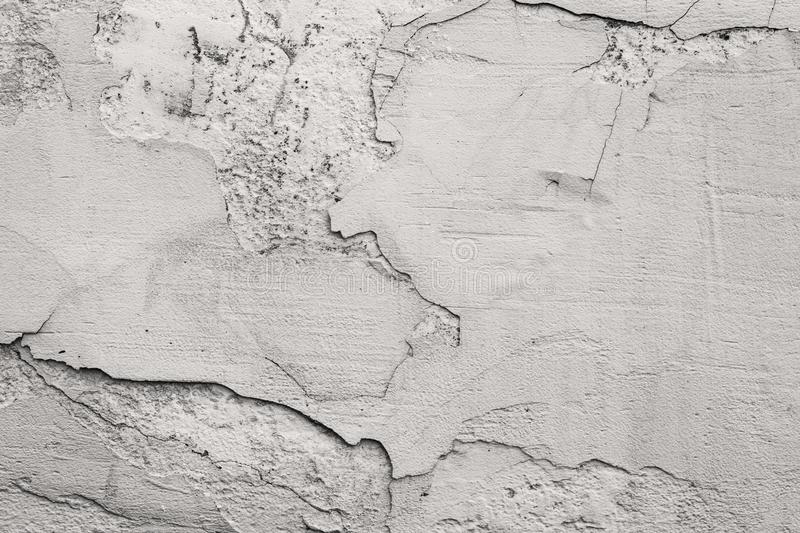 Aged grungy black and white textures cement stucco background stock photography