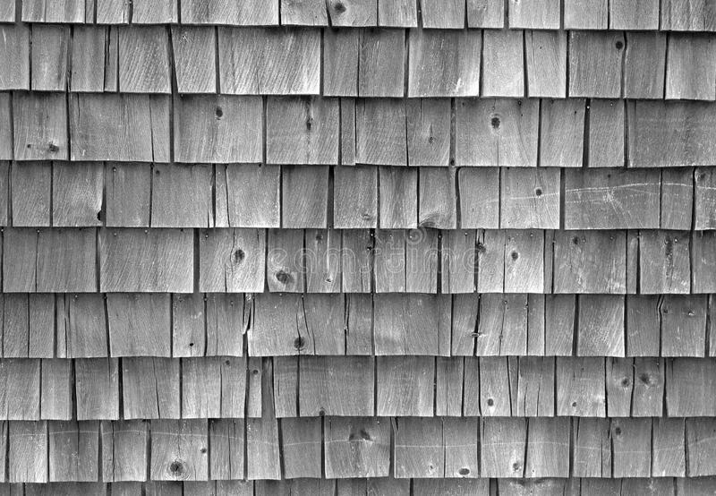 Aged House Shingles stock photography