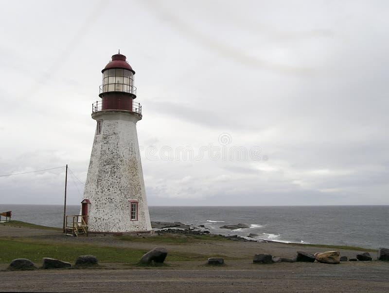 Aged lighthouse stock photo