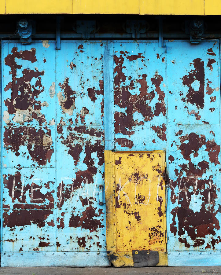 Download Aged metal door stock image. Image of grunge, lock, aged - 26026913
