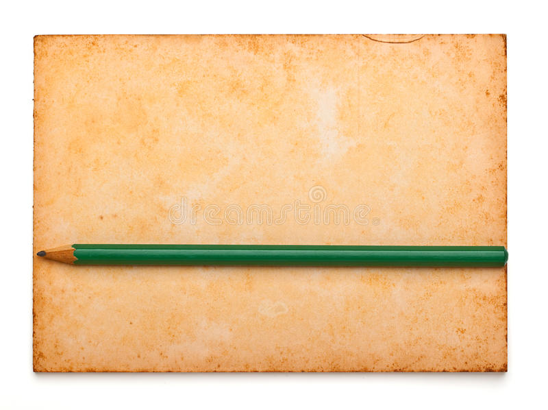 Download Aged Notepad With Pencil On Isolation Stock Photo - Image: 25013876
