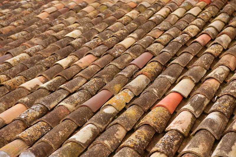 Download Aged Old Clay Arabic Roof Tiles In Rows Royalty Free Stock Photo - Image: 12222995