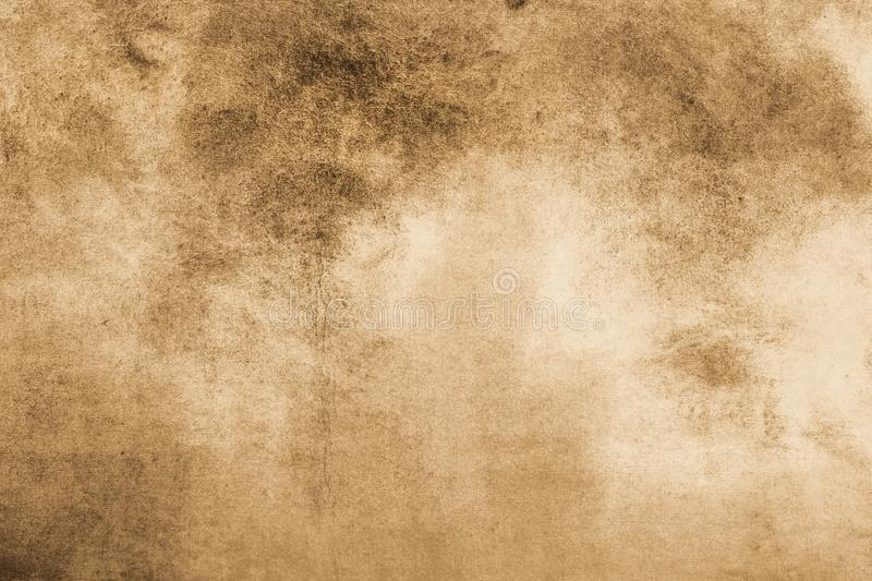 Aged old style vintage background. Old photo texture illustration stylization in sepia colors with blots, stains and scratches. stock photo