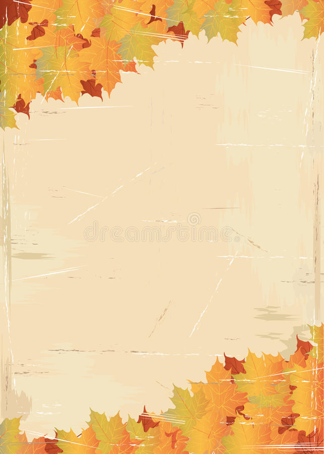 Free Aged Page With Leaf Texture Royalty Free Stock Photo - 21008345