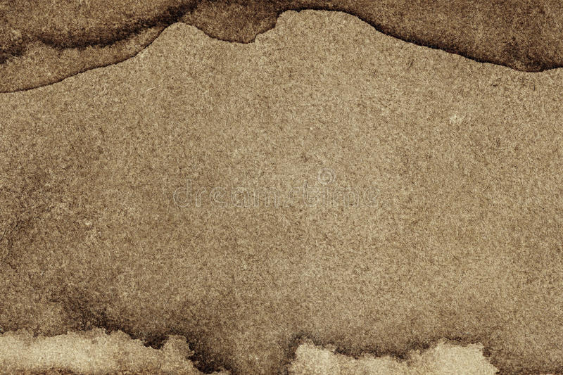 Aged paper. Texture with stains stock photography