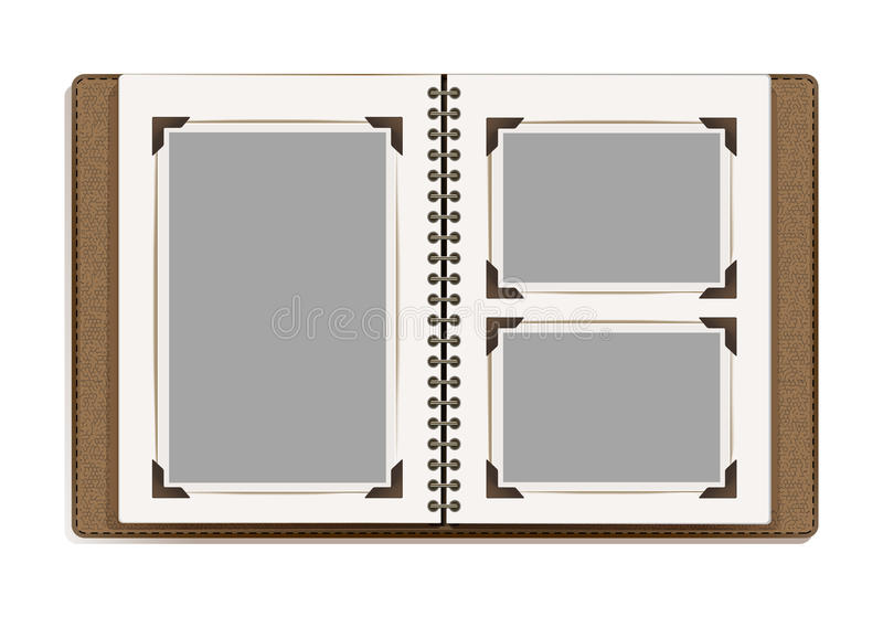Aged photo album pages with retro photo frames stock vector download aged photo album pages with retro photo frames stock vector illustration of aged toneelgroepblik Gallery