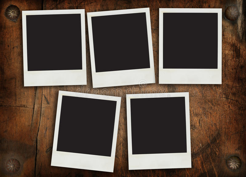Download Aged Photo Frames On Timber Wall Stock Photo - Image of grained, design: 17731548