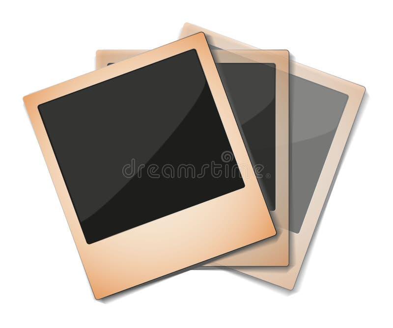 Aged Polaroid Photos in Group