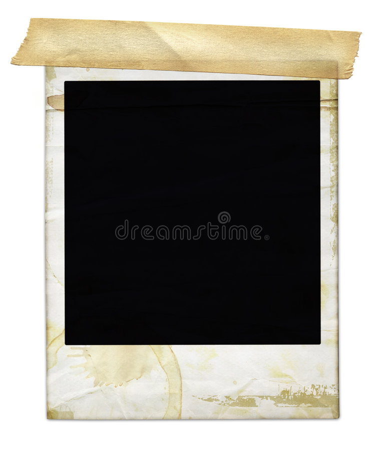 Free Aged Polaroid With Tape Royalty Free Stock Photo - 839295