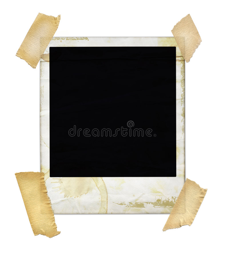 Free Aged Polaroid With Tape Royalty Free Stock Image - 898796