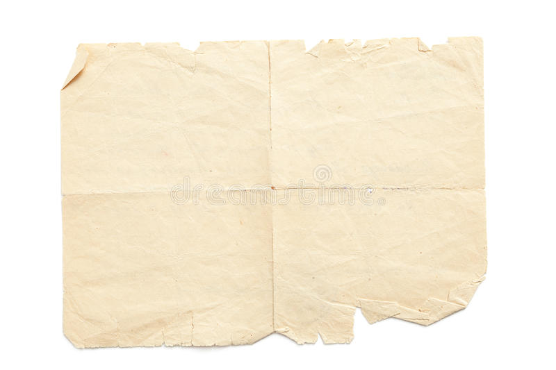Aged ripped paper stock photography