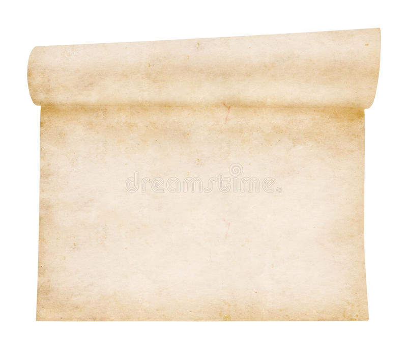 Aged scroll paper stock images