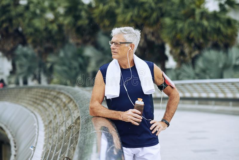 Aged sportsman royalty free stock image