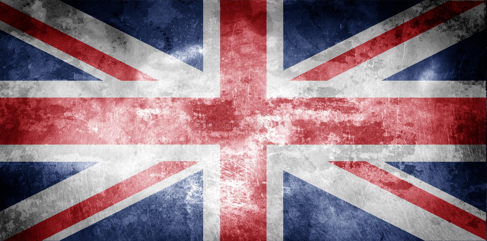 Download Aged UK flag stock photo. Image of isolated, blotches - 3449916