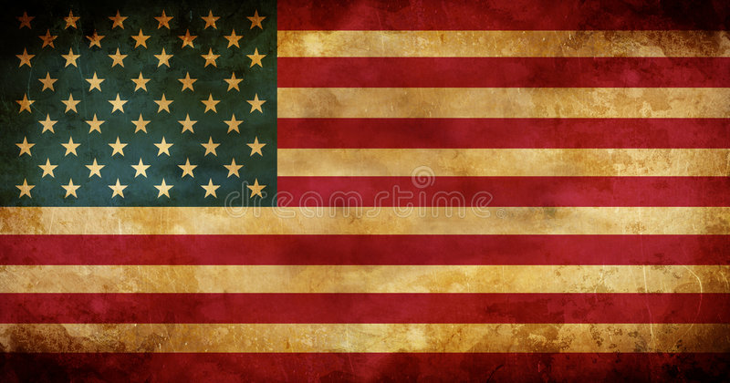 Aged USA American flag stock photo