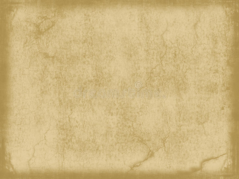 Aged vintage paper. Old or aged paper texture, vintage look with cracks, wrinkles and age effect stock image