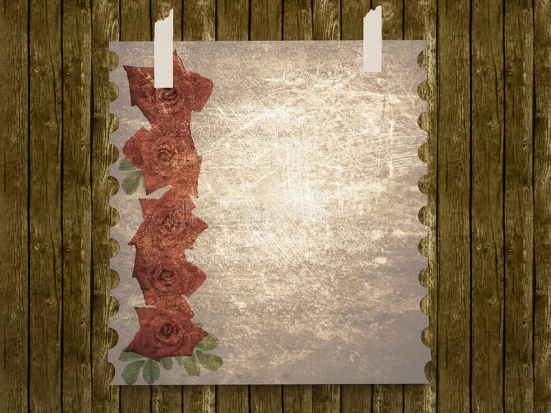 Aged vintage wedding (holiday) background stock illustration