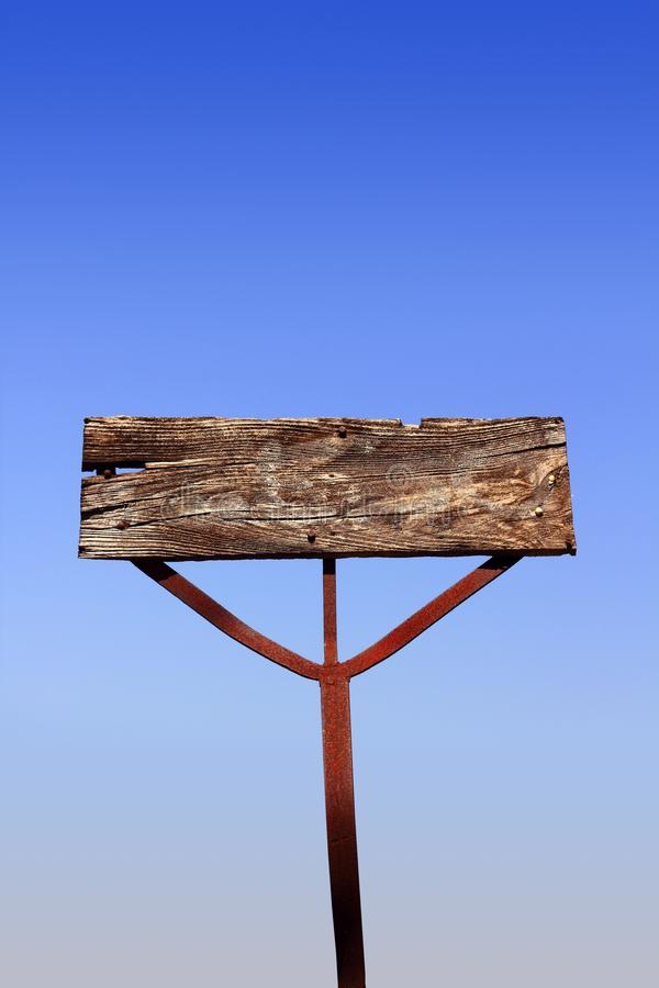 Aged Wooden Vintage Sign Signal Blank Copyspace Stock Photos