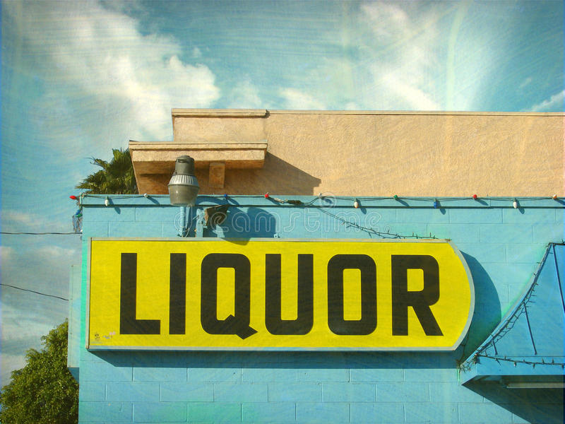 Download Aged And Worn Vintage Liquor Store Sign Royalty Free Stock Images - Image: 29020909