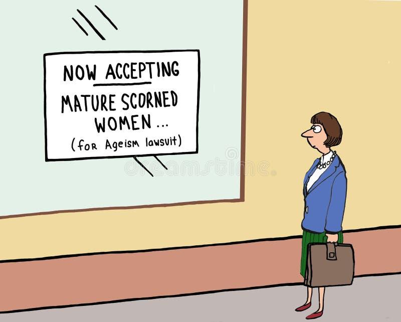 Ageismproces vector illustratie