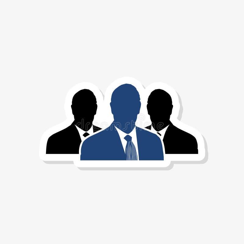 Agence de recrutement - illustration de concept d'autocollant Ic?ne de logo d'homme d'affaires Ic?ne de logo de personnes Signe d illustration de vecteur