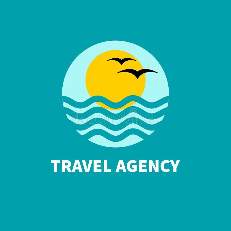 Agence de voyages de logo illustration de vecteur