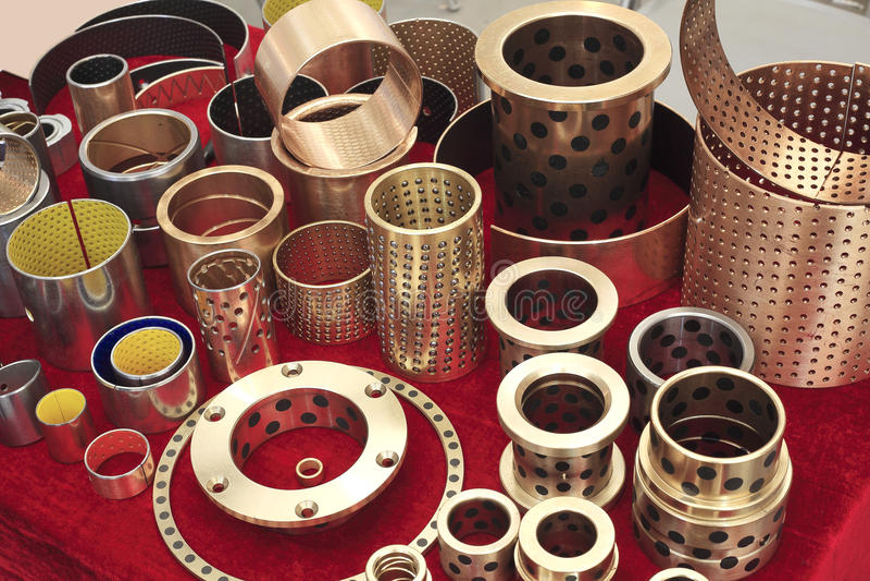 Agencement à la collection de cuivre d'accessoires de machine photographie stock