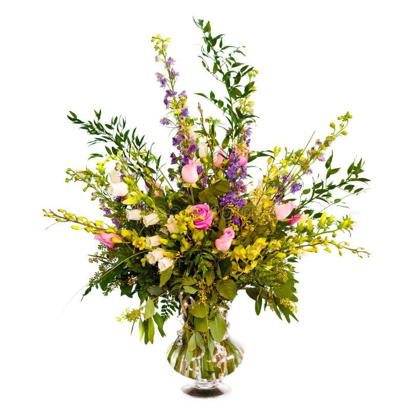 Agencement coloré de bouquet de fleur dans le vase photo libre de droits