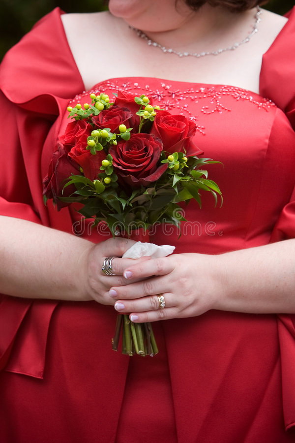 Agencement de fleur de bouquet de mariage image libre de droits