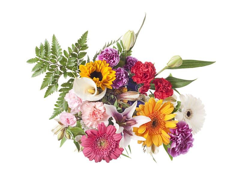 Agencement de fleur mélangé sur le blanc photo stock