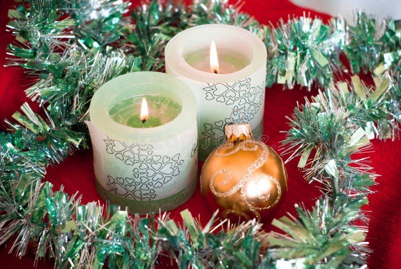 Download Agencement de Noël photo stock. Image du bougie, scintillement - 45371602