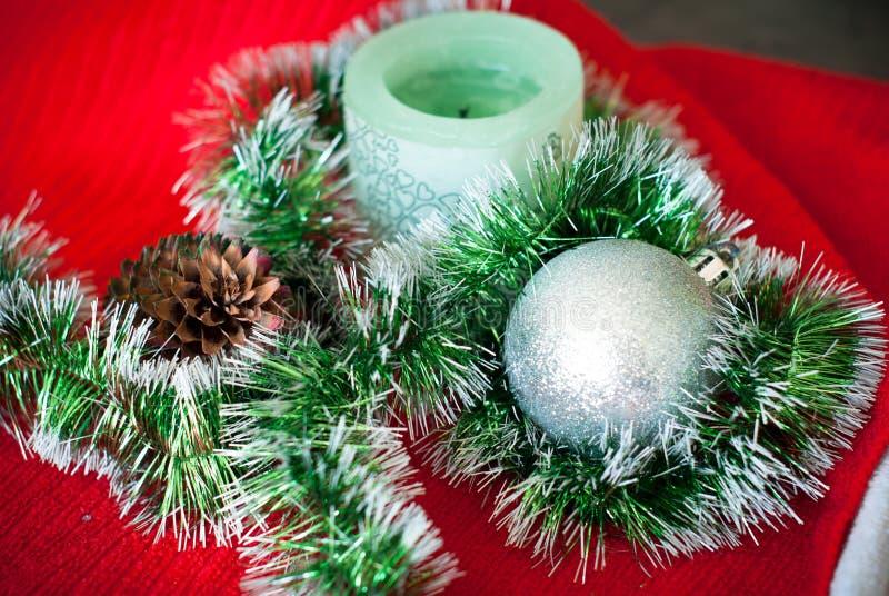 Download Agencement de Noël image stock. Image du fond, bougie - 45371617
