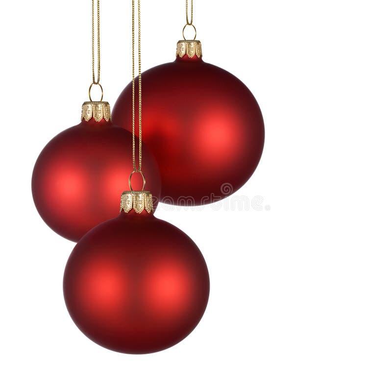 Agencement de Noël avec les babioles rouges image libre de droits
