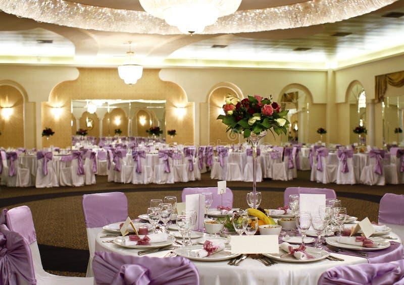 Agencement de table de mariage photos stock