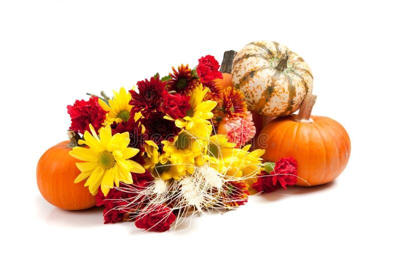 Agencement floral d'automne sur le blanc image stock