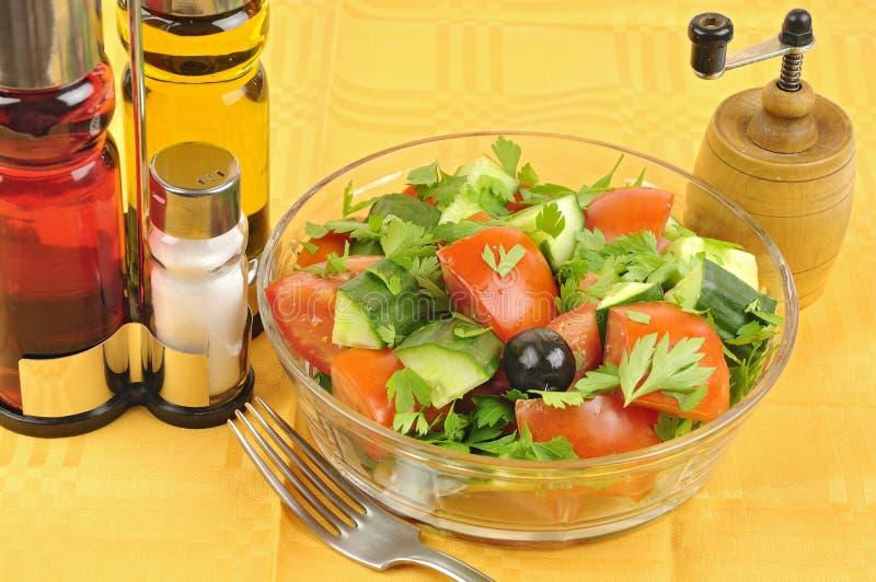 Agencement macédonien de salade photographie stock