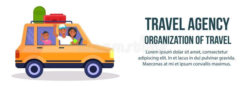 Agencia de viajes Organización de bandera del viaje stock de ilustración