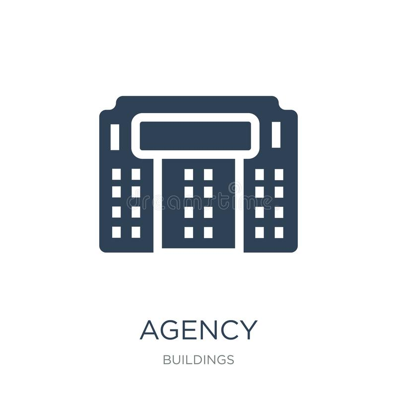 Agency icon in trendy design style. agency icon isolated on white background. agency vector icon simple and modern flat symbol for. Web site, mobile, logo, app vector illustration