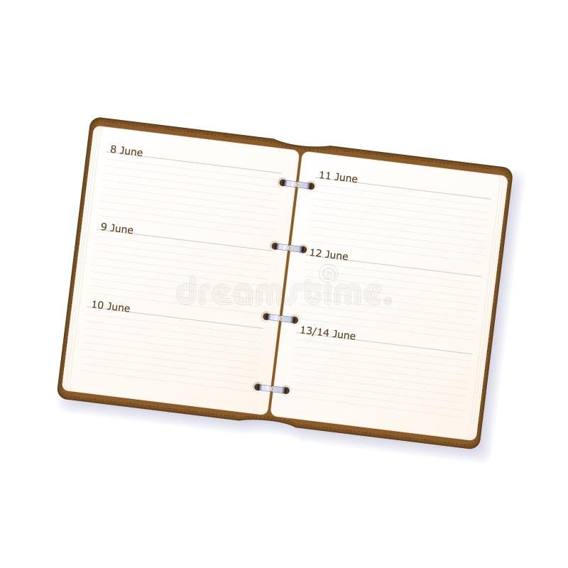 agenda illustration de vecteur