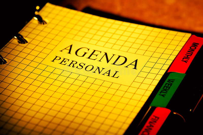 Agenda royalty free stock images