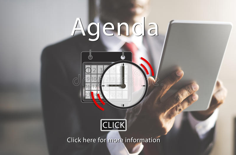 Agenda Appointment List Organizer Plan Reminder Concept stock photo