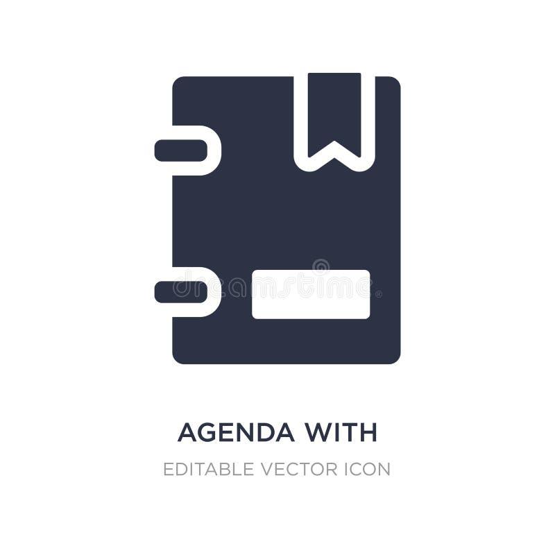 agenda com ícone dos marcador no fundo branco Ilustração simples do elemento do conceito da educação ilustração royalty free