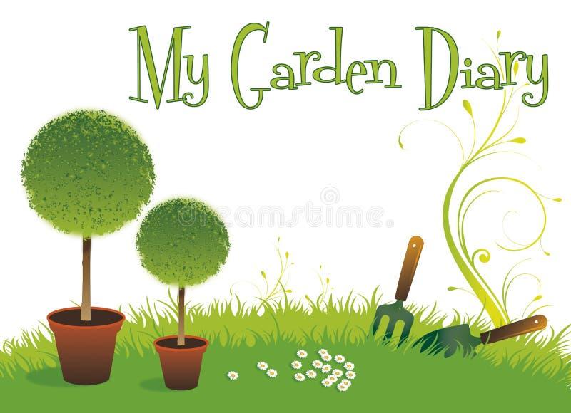Agenda de jardin illustration stock