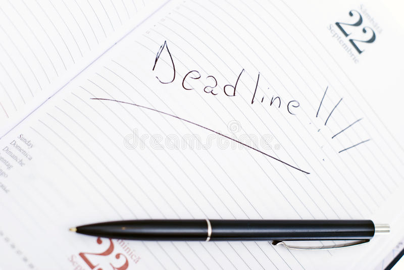 Download Agenda With Deadline Date And Pen Stock Photo - Image: 11751458
