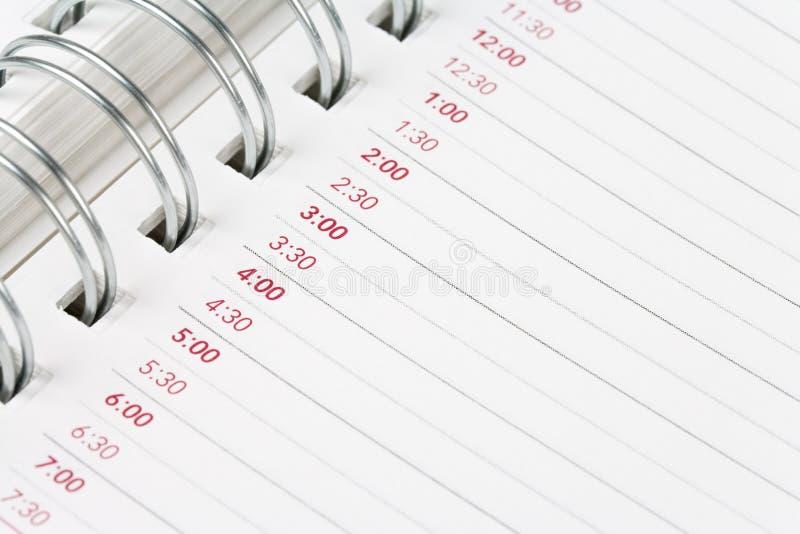 Agenda do calendário fotos de stock