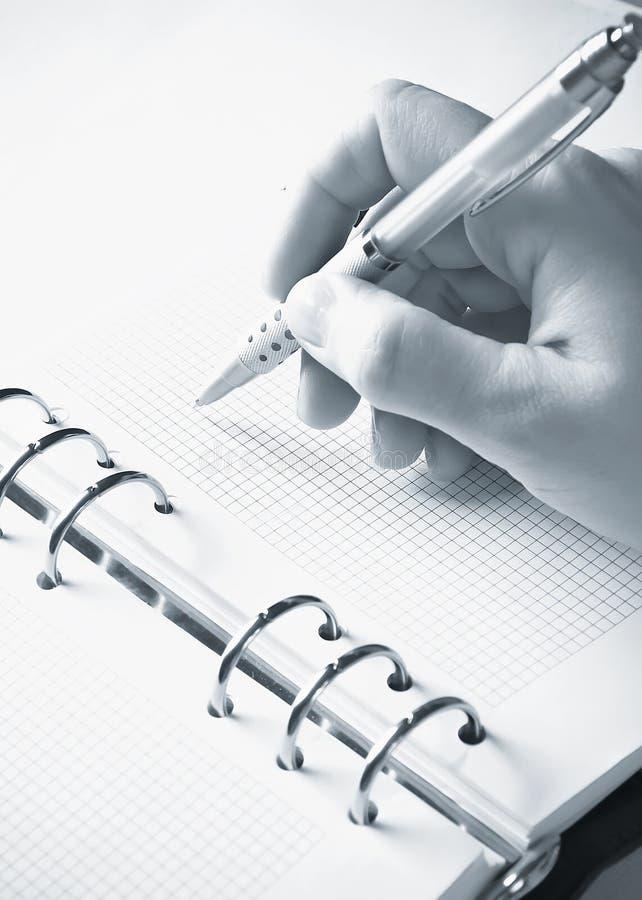 Agenda, het schrijven stock afbeelding