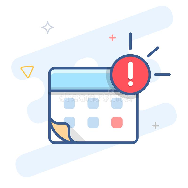 Free Agenda Notification Vector Line Icon. Event Reminder Outline Illustration. Stock Photos - 158941293