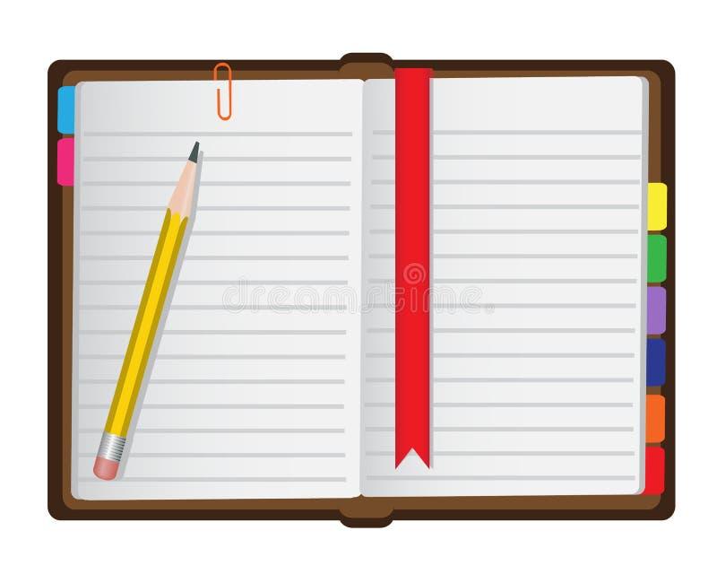 Agenda op een witte achtergrond royalty-vrije illustratie